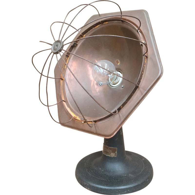 Industrial table lamp in red copper by Glittering glow - 1960s