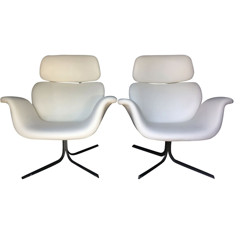 Pair of large tulips armchairs by Pierre Paulin for Artifort - 1960s