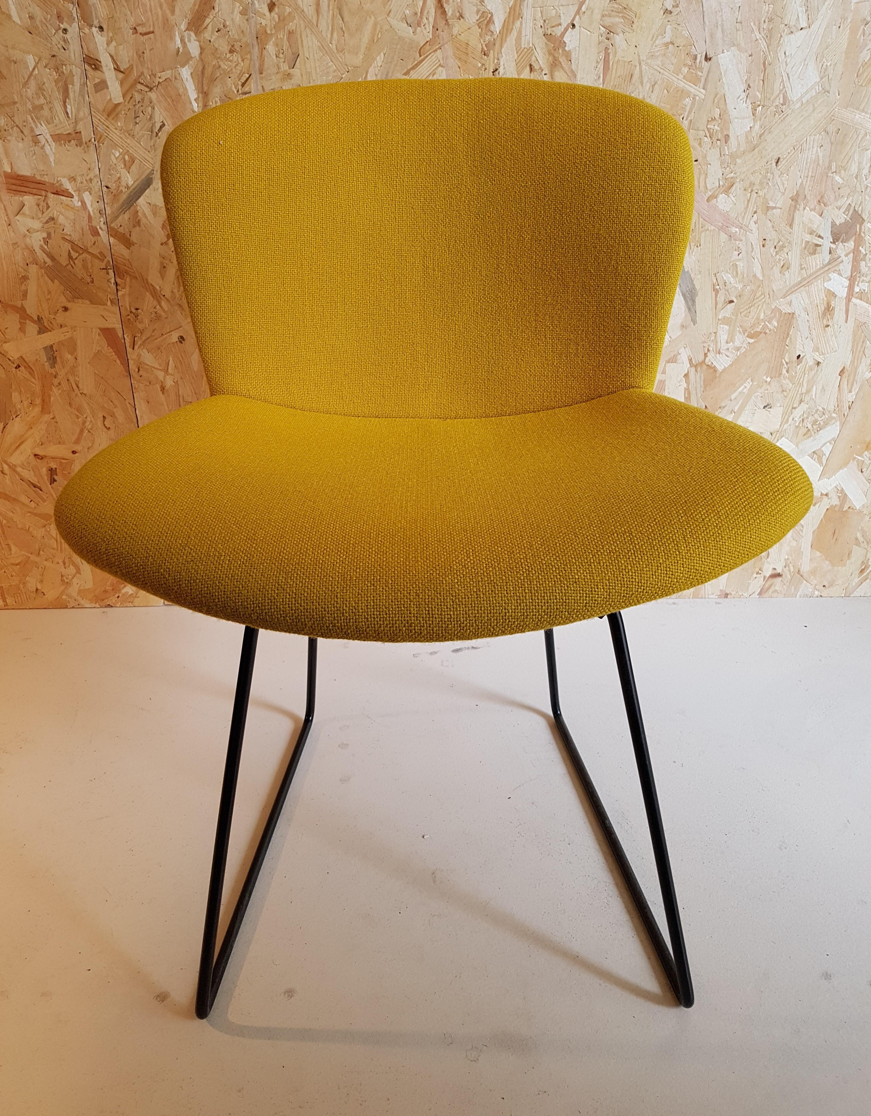 Black metal chair by Harry Bertoia for Knoll International 1960s