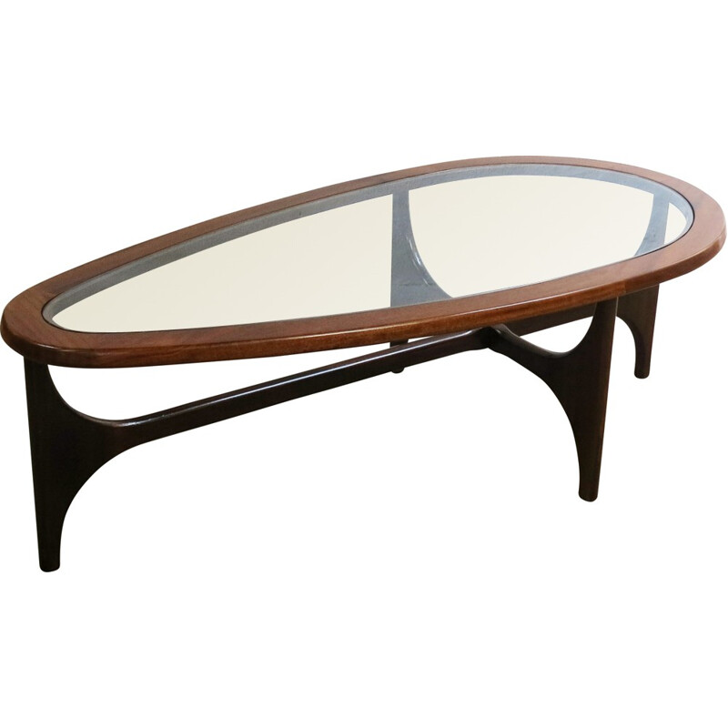 Tear-drop oval Coffee Table by Stonehill - 1960s