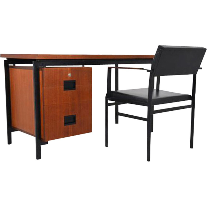 Cees Braakman Desk and Chair Set for Pastoe, japonese series 1958