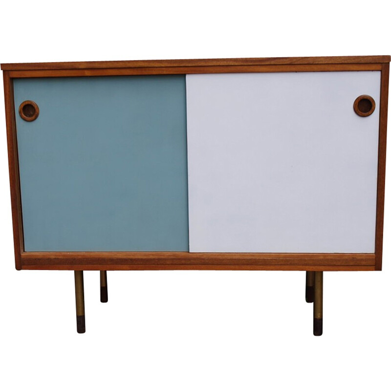 Teak sideboard painted and bicolour - 1960s