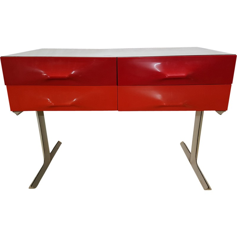 DF 2000 Double Side Console Table With 6 Drawers By Raymond Loewy   1960s