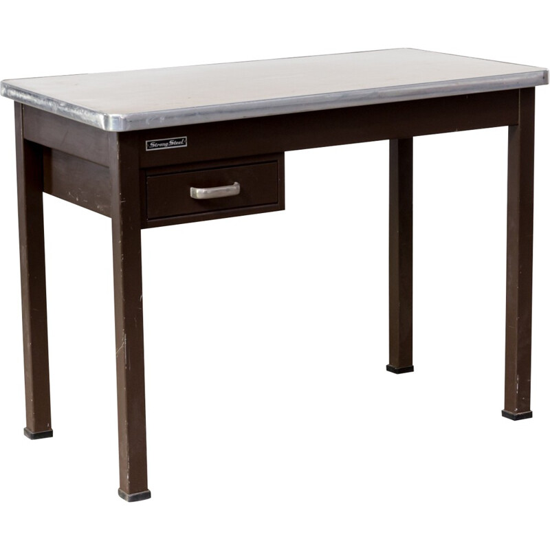 Industrial strong Metal writing desk - 1970s