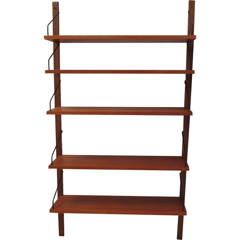 5 level wall shelf by Poul Cadovius for Royal System - 1960s
