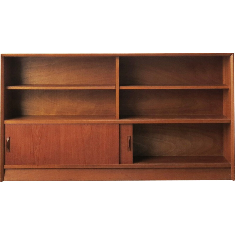 Mid century bookcase in Teak and Glass by Herbert Gibbs - 1960s