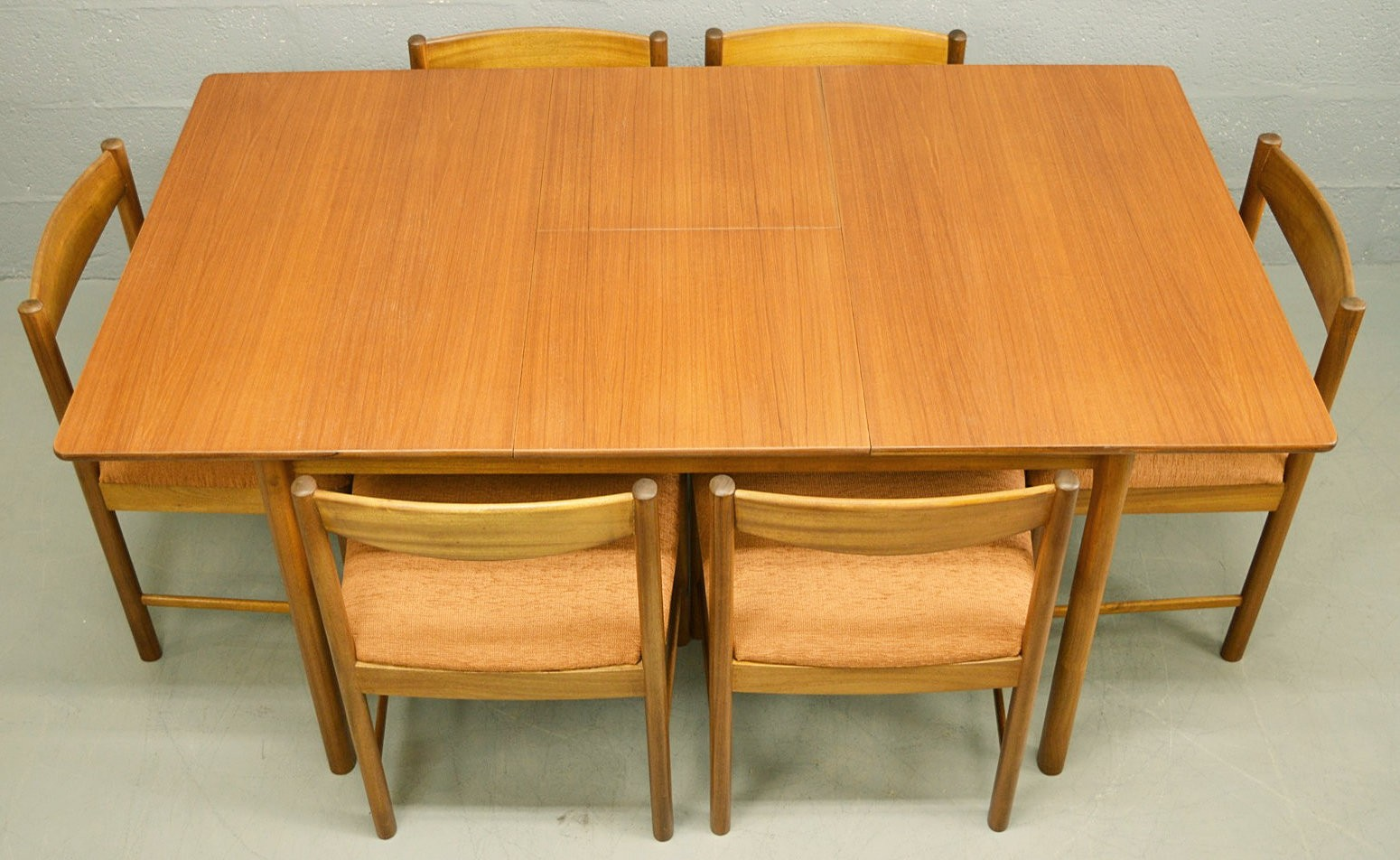 Mid-Century teak McIntosh extendable dining table and ...