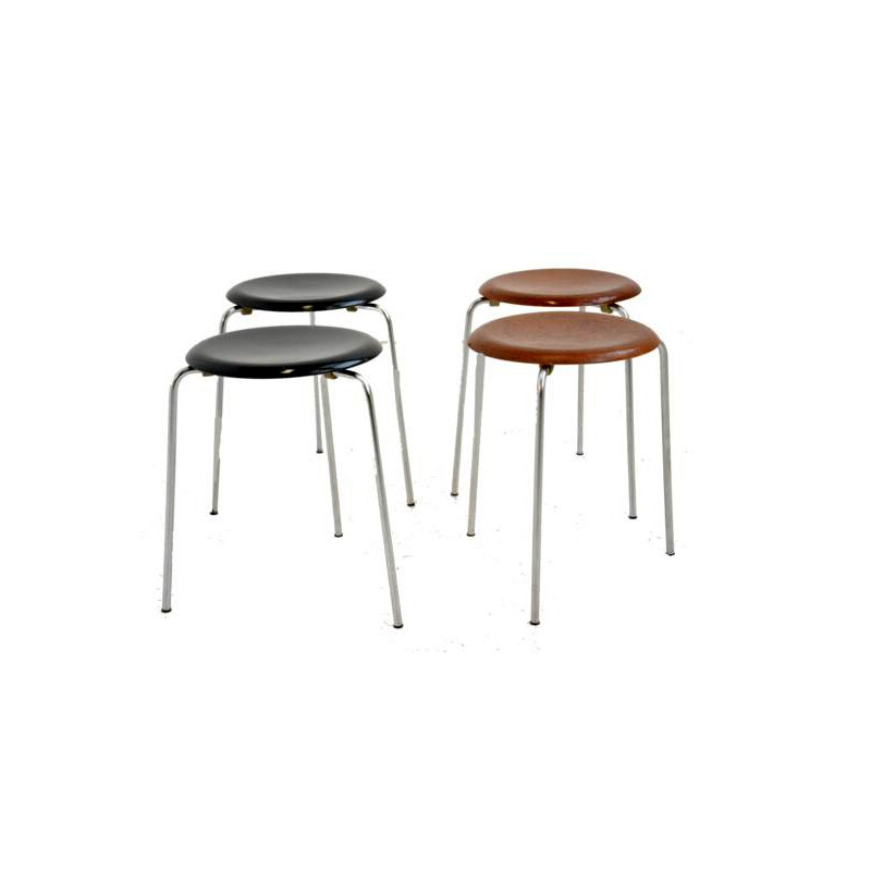 Set of 4 stools by Arne Jacobsen for Fritz Hansen - 1950s