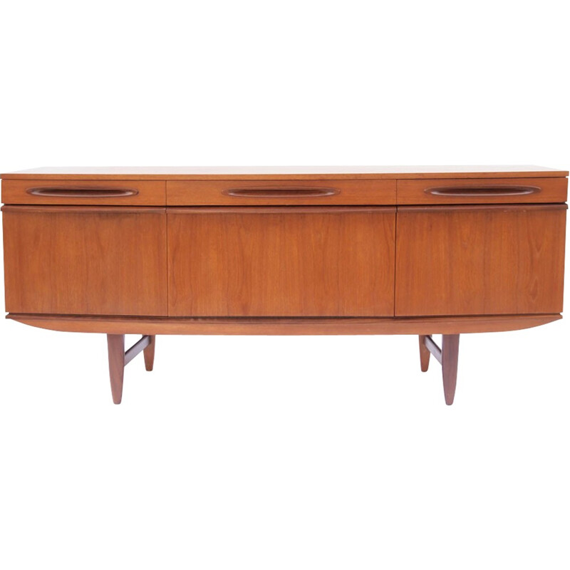 Curved top sideboard in honey color - 1950s