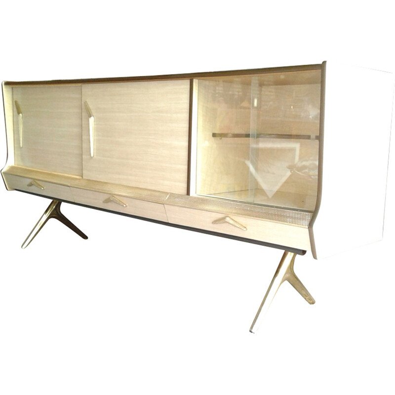 Italian formic and brass sideboard - 1950s