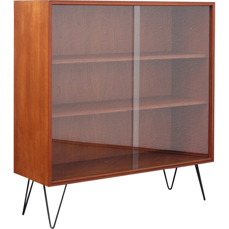 Storage cabinet in teak with hairpin legs - 1960s