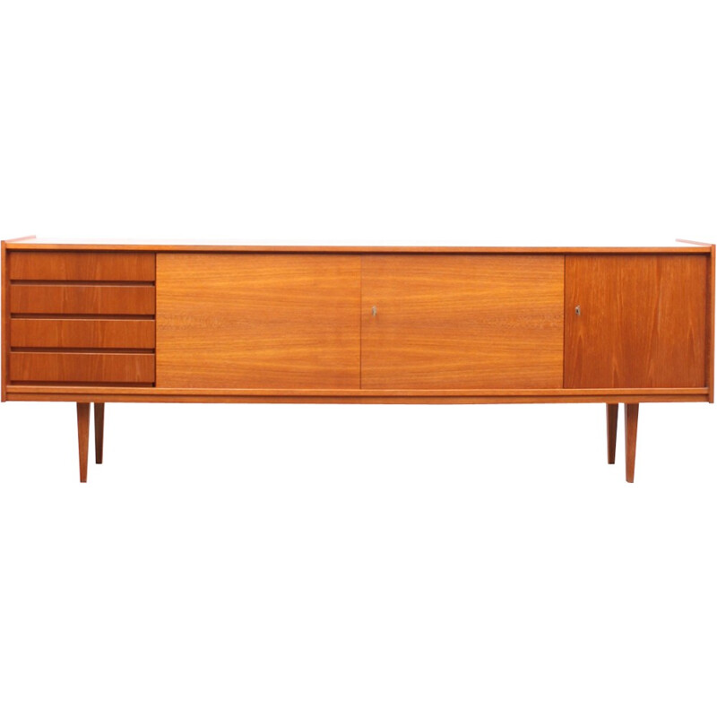 Scandinavian sideboard with 4 drawers - 1960s