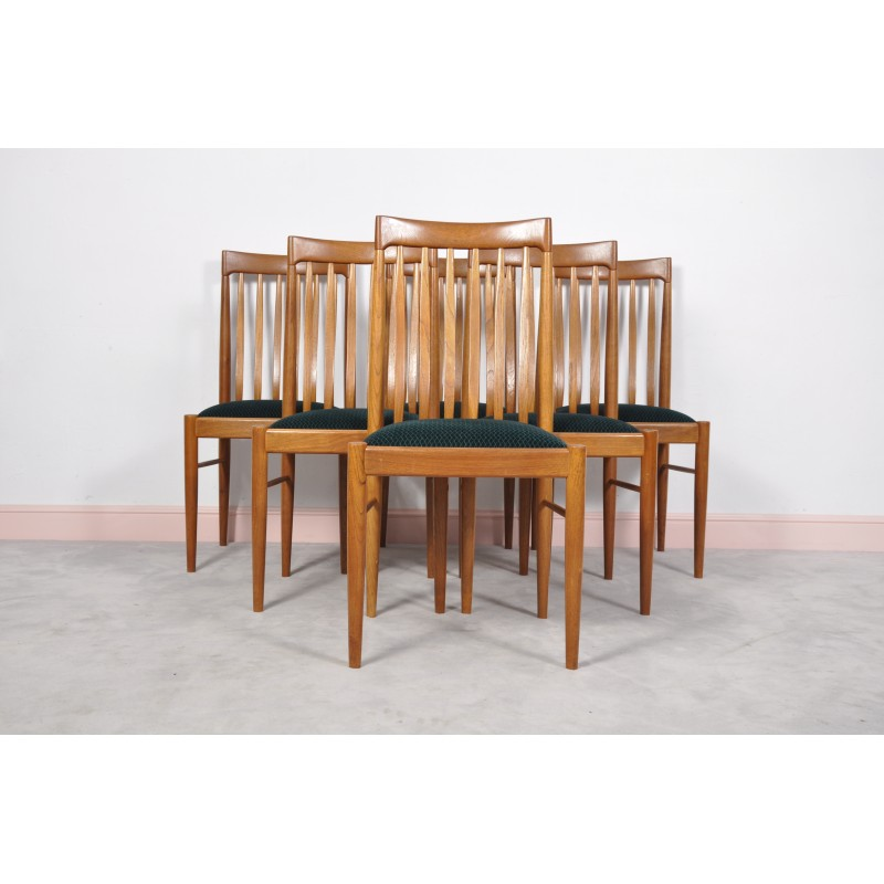 a61530ae718c Green danish teak dining chairs by H. W. Klein for Bramin - 1960 - Design  Market