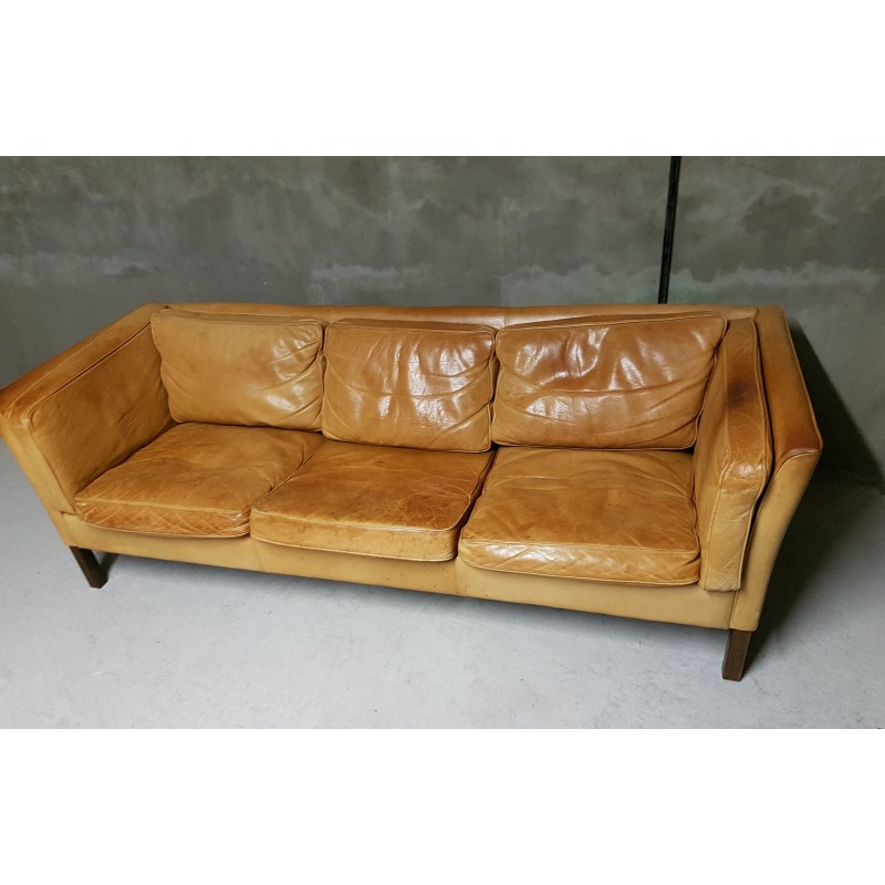 Amazing Danish Havana Leather Sofa By Stouby 1970S Machost Co Dining Chair Design Ideas Machostcouk