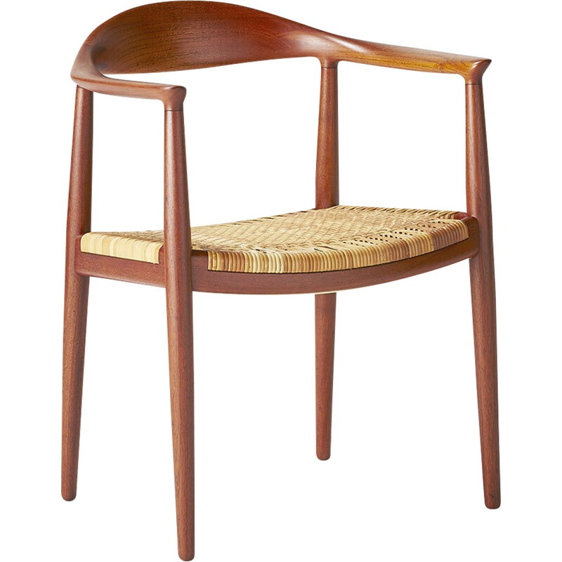 "Teak JH-501 ""The Chair"" by Hans J. Wegner for Johannes Hansen - 1940s"