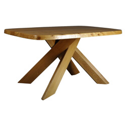 """""""T35B"""" Dining table, Pierre CHAPO - 1970s"""