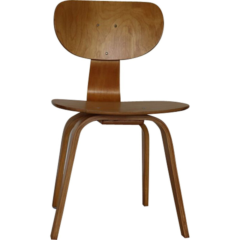 Pair of bentwood dining chairs by Cees Braakman for UMS Pastoe - 1950s
