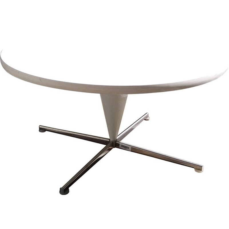 White plastic cone coffee table by Verner Panton - 1950s
