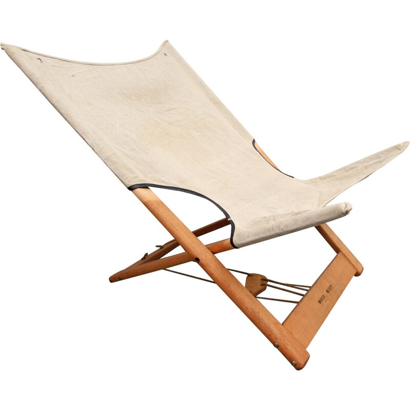 Safari Folding Chair Hyllinge Denmark - 1960s