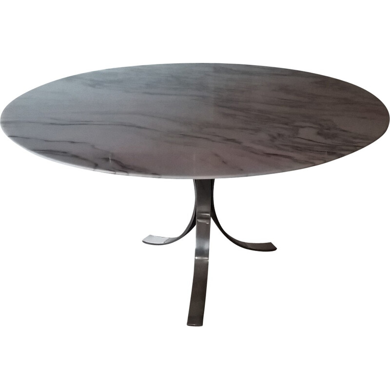 Marble round table by Osvaldo Borsani - 1970s