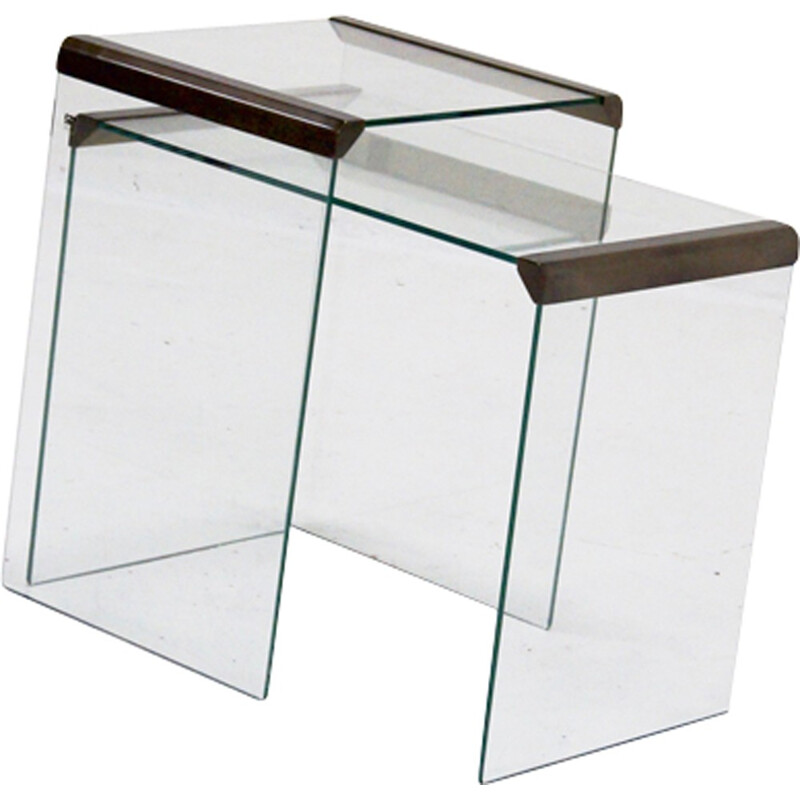 Pair of Italian side tables by Gallotti & Radice - 1970s