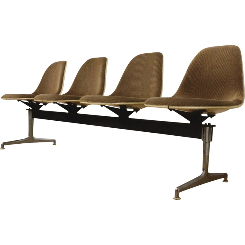 Tandem 4 seaters bench by Charles Eames for Herman Miller - 1960s