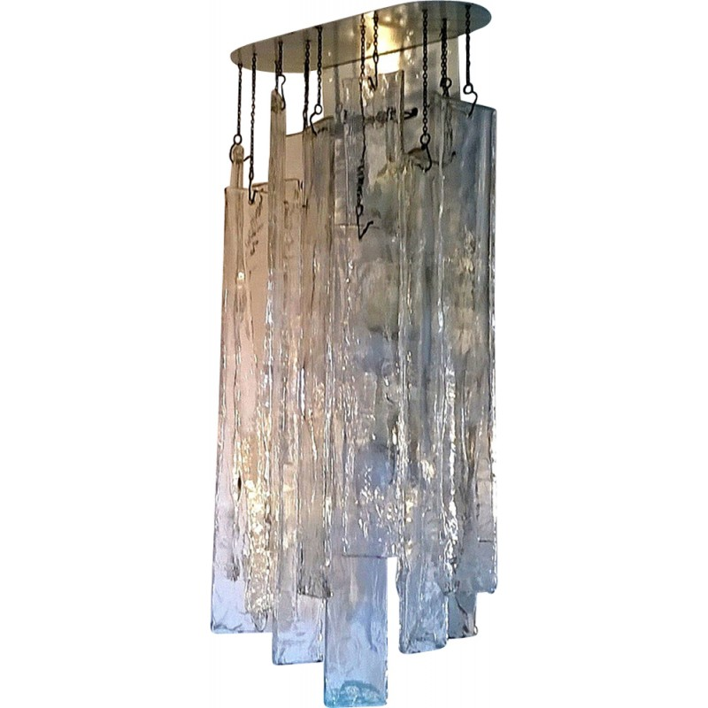 Pair of large murano glass wall lights by Carlo Nason for Mazzega - 1970s