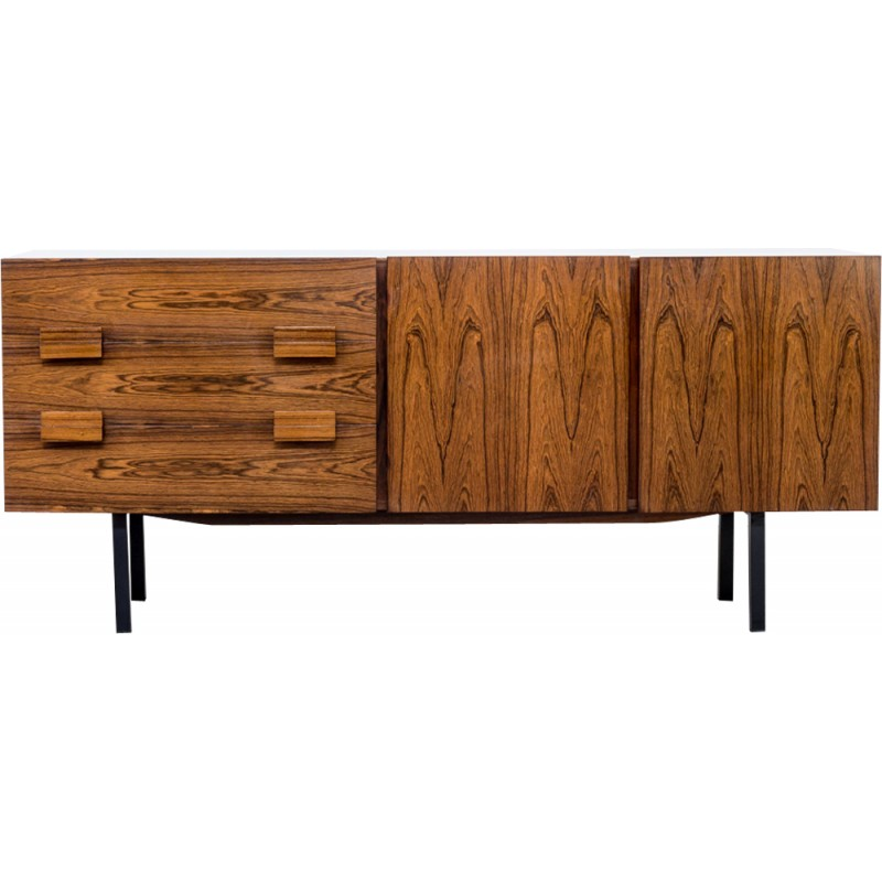 Rosewood sideboard with two drawers two doors - 1960s