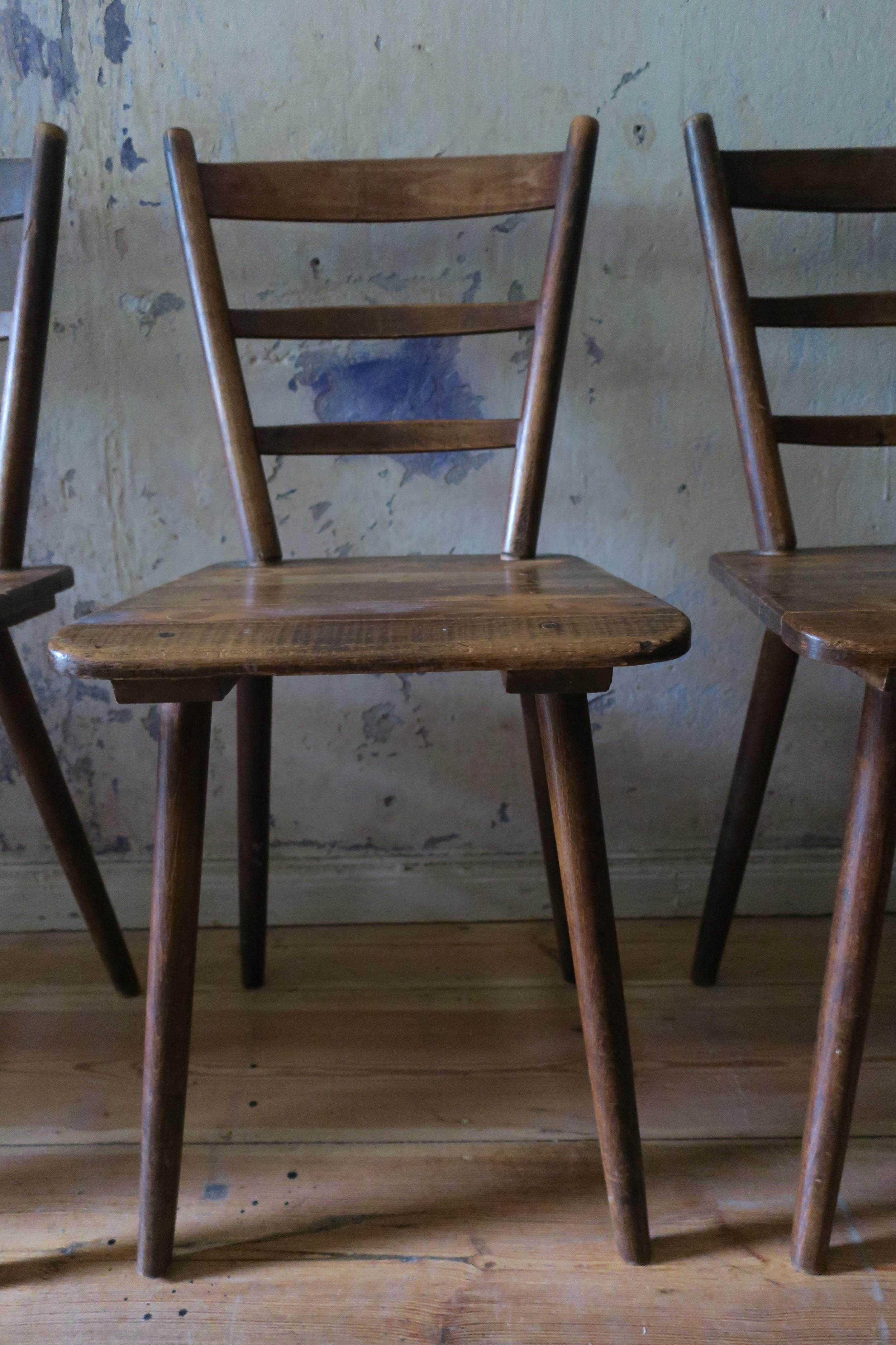 Vintage Munich beer hall board chairs 1960s Design Market