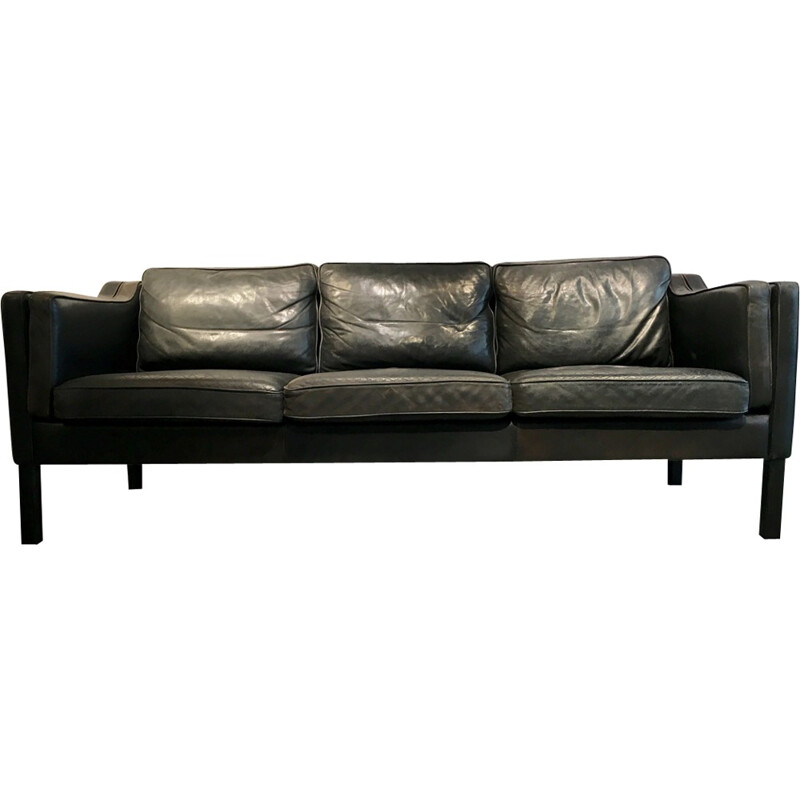 3 seater Leather sofa - 1960s