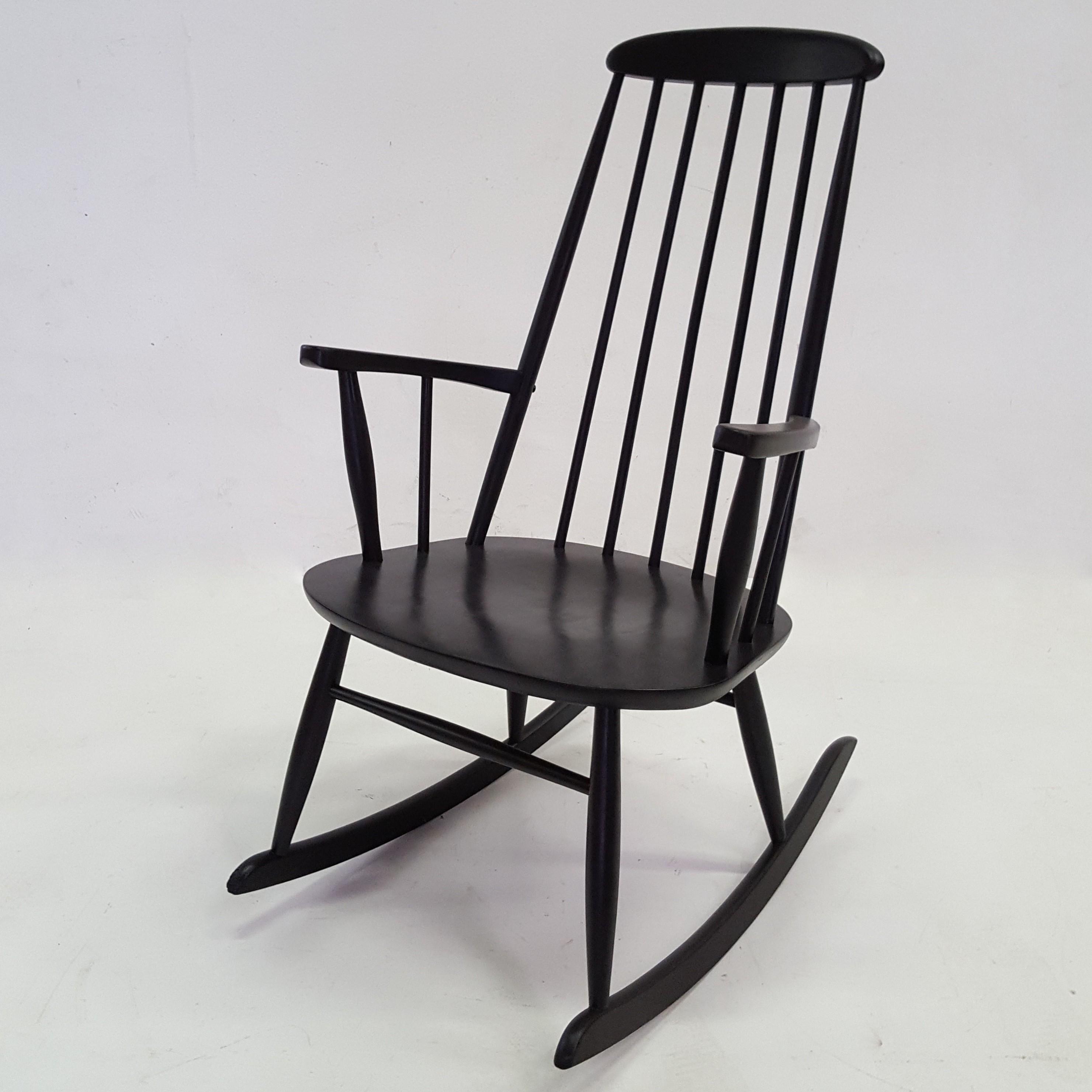 Scandinavian Rocking Chair In Beechwood By Rolan Rainer   1950s. Previous  Next