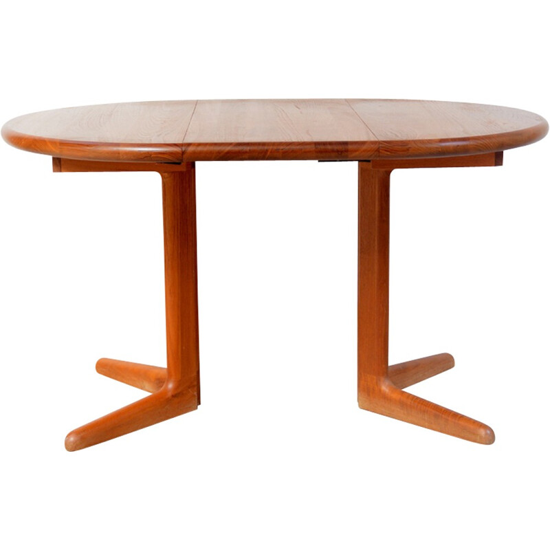 Danish teak table with extension produced by  Korup Design - 1960s
