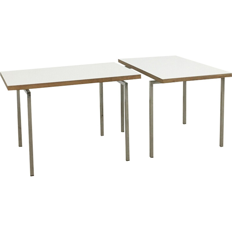 set of 2 modernist stacking tables by Trix & Robert Haussmann - 1950s