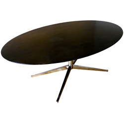 Wooden oval table, Florence KNOLL - 1961
