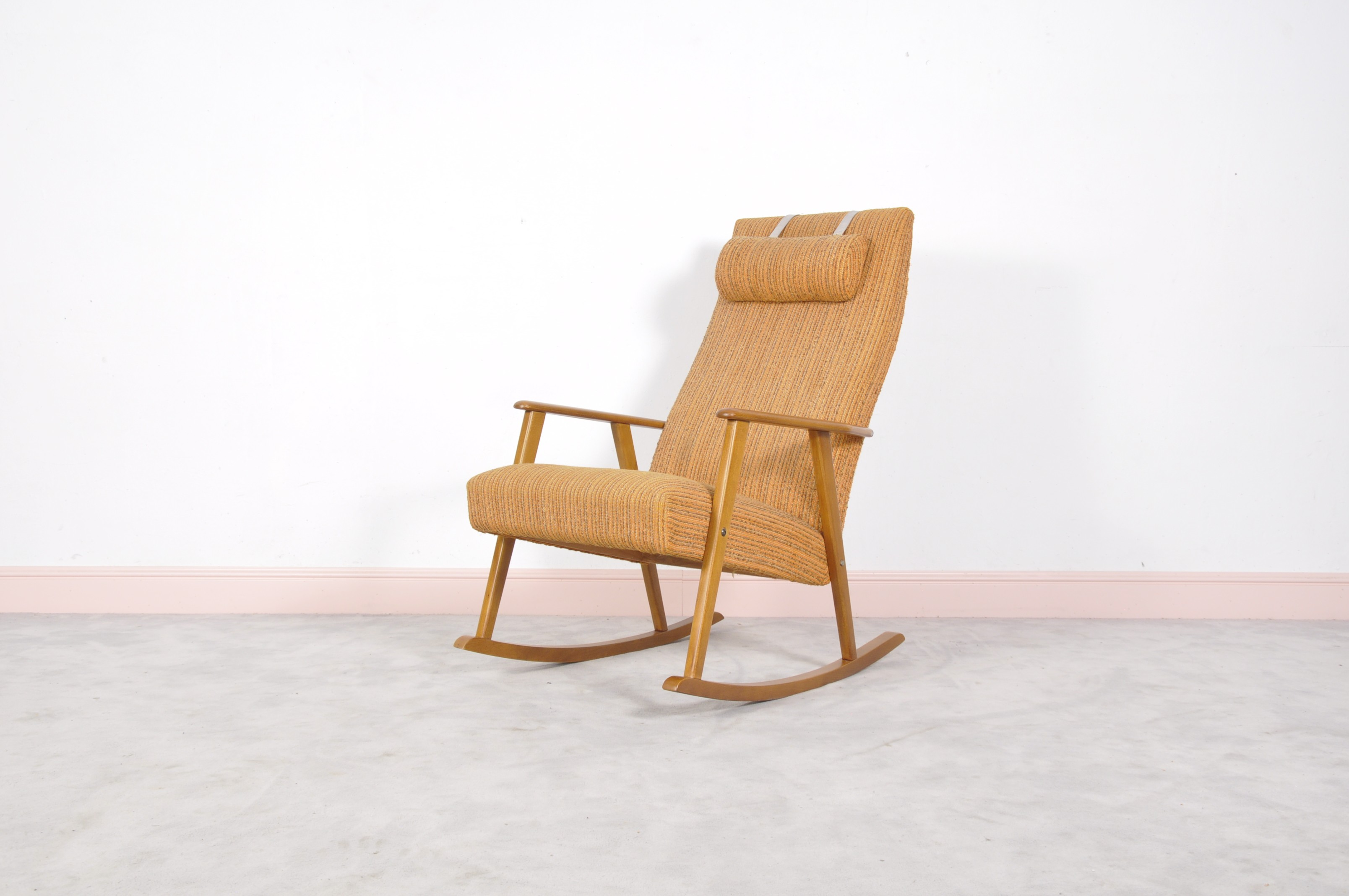bentwood chairish mid century wood chair aspect beech rocking modern product cane natural height fit and width