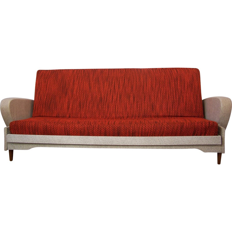 Mid century French red daybed - 1950s