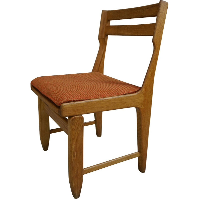 Set of 6 Raphael dining chairs by Guillerme and Chambron for votre Maison - 1960s