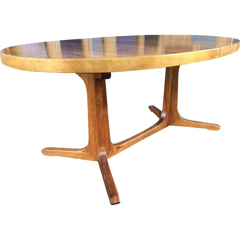 Mid-century Baumann dining table in wood - 1960s