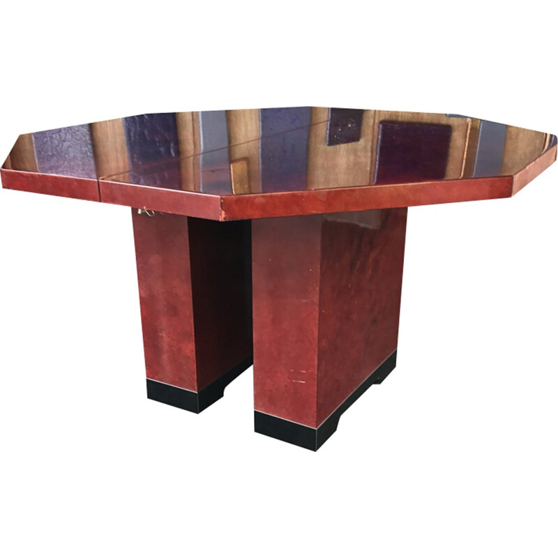 Mid-century red dining table - 1970s