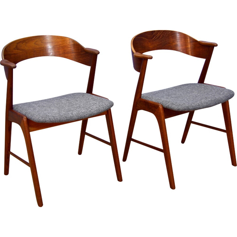 Set of 2 dining chairs by Kai Kristiansen - 1950s