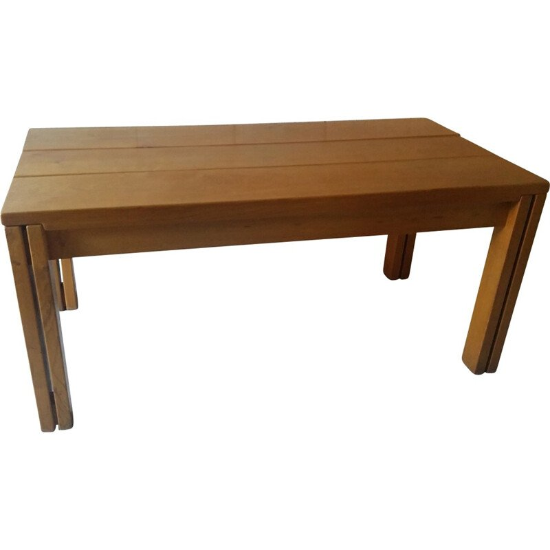 Elm dining table by Regain - 1980s