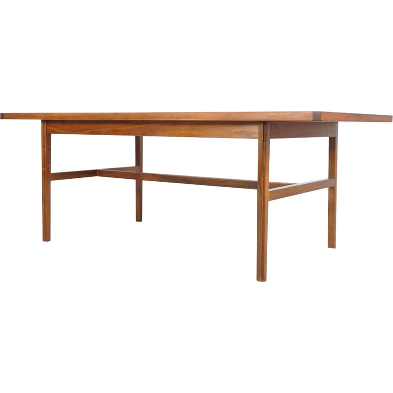 Mid-century dining table in walnut by Jens Risom for William Latchford & Sons - 1960s