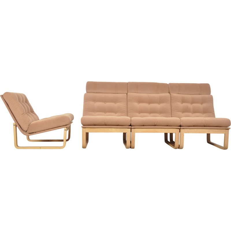 Mid-century sectional sofa by Rud Thygesen & Johnny Sorensen for Magnus Olsen Durup - 1960s