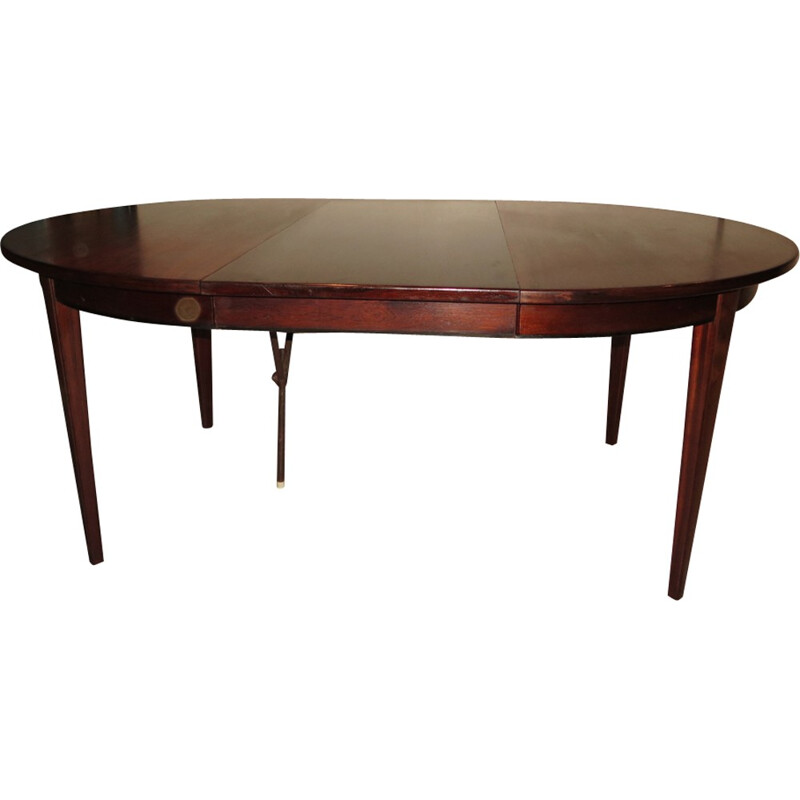 Danish rosewood extendable dining table by Gunni.Omann - 1960s