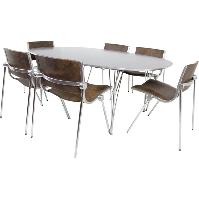 Dining table in rosewood by Piet Hein for Fritz Hansen - 1970s