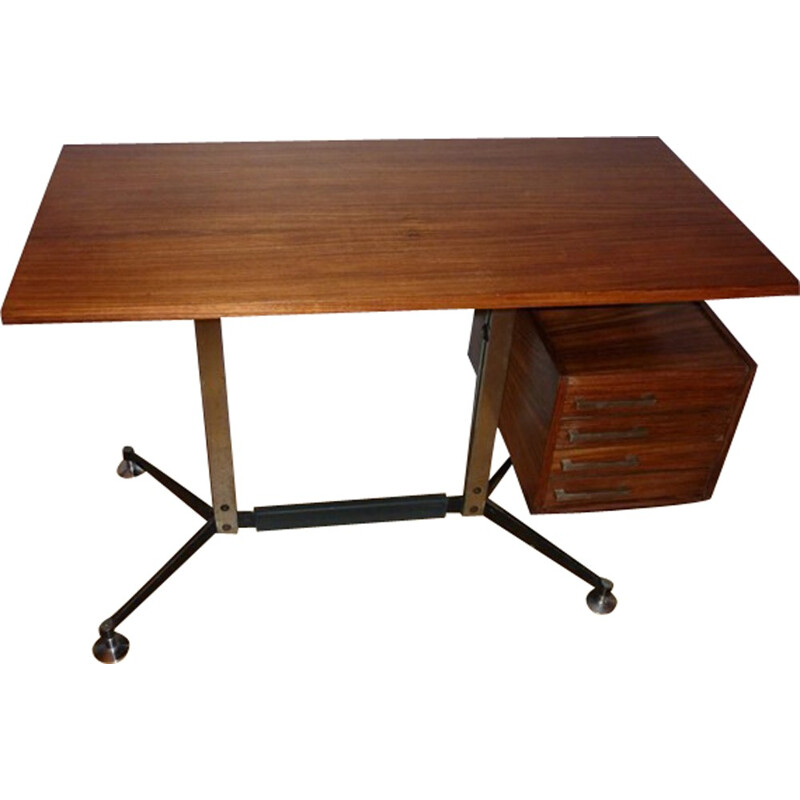 Mid-century desk by Jules Wabbes for Velca Legnano - 1960s