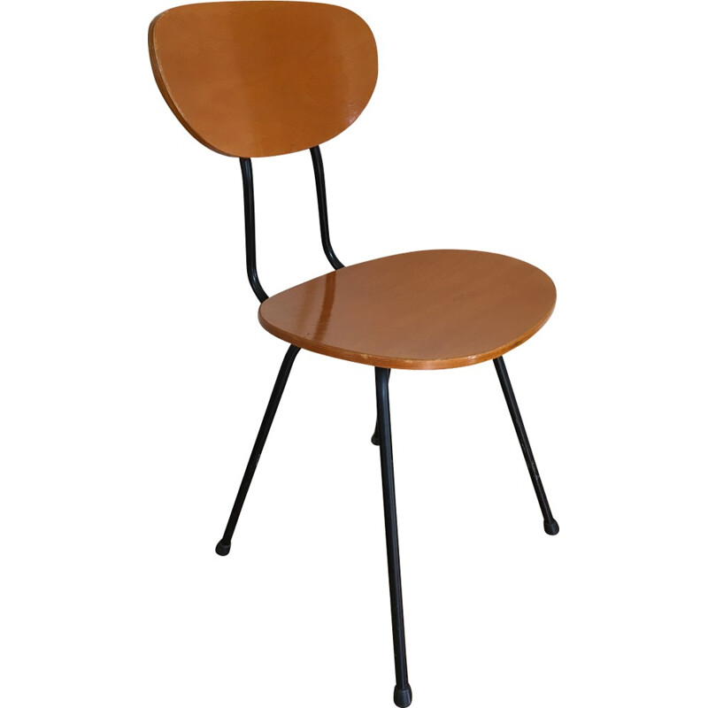 Set of 4 wooden chairs - 1960s
