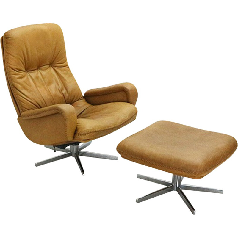 DS-50 swivel chair with ottoman, edited by de Sede - 1960s