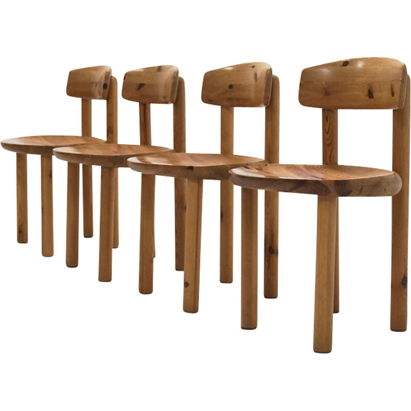 Set of 4 chairs by Rainer Daumiller for Hirtshal Sawmill - 1970s