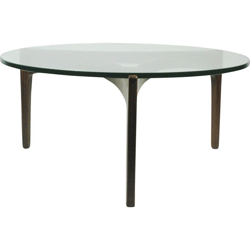 Rosewood coffee table by S. Ellekaer for Ch Linneberg - 1960s